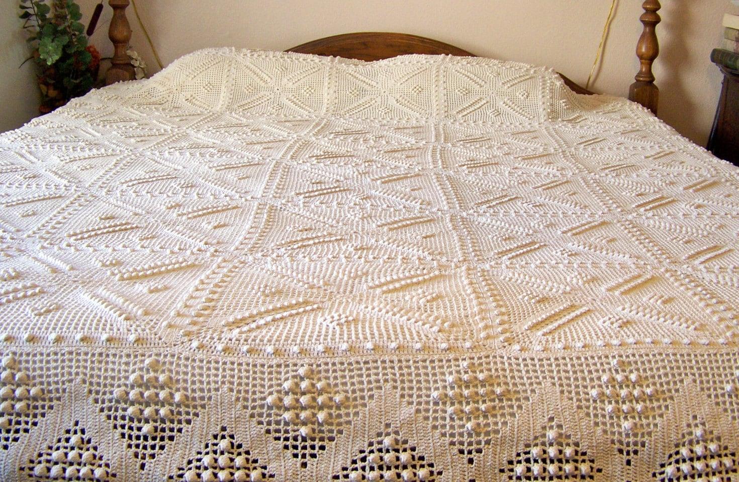 Antique Crochet Bedspread Heirloom Quality Hand Crochet