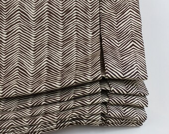 Quadrille Alan Campbell Petite Zig Zag Custom Roman Shade (Petite Zig Zag comes in many colors)