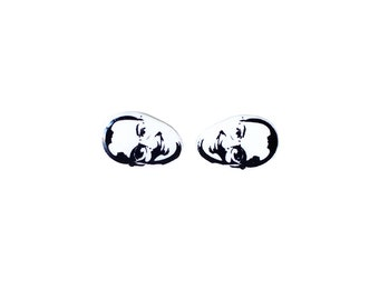 Hey Brother Earrings - Buster - Earring Studs - Buster Bluth - Jewelry - Funny Gifts - Pop Culture
