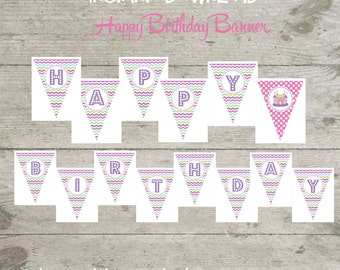 INSTANT DOWNLOAD - Happy Birthday Banner Bounce House