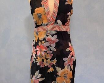 Anthropologie Dress, Sweet Pea Dress,  Mesh Dress, Large  Dress, Floral Dress, Large Dress, Large Womens Dress