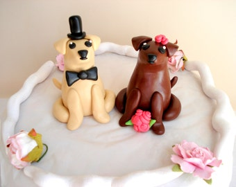 Labrador Wedding Cake Toppers Bride and Groom Cake Toppers Wedding Keepsake Anniversary Cake Topper