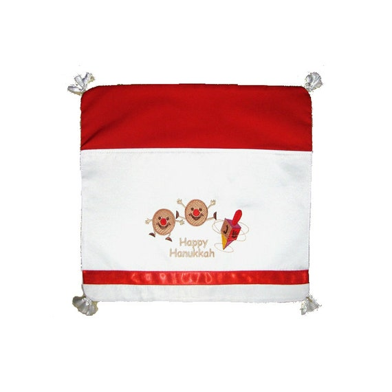 Sale - Unique Embroidered Hanukkah Table Napkin from Israel