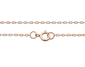 14Kt Rose Gold Filled 1.8x1.1mm 14 Inch Drawn Cable Neck chain with clasp - 1pc 10% Discounted High Quality Shiny Finished Chain (6752)/1