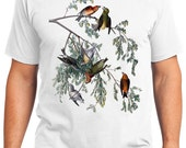 American Crossbill Bird Retro Men & Ladies T-shirt - Gift for Bird Lovers and Ornithologist (idc197)