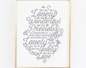 Isn't She Lovely Nursery Print - Stevie Wonder Print - Nursery Decor - Baby Shower Gift - Baby Girl Gift - Stevie Wonder Lyrics