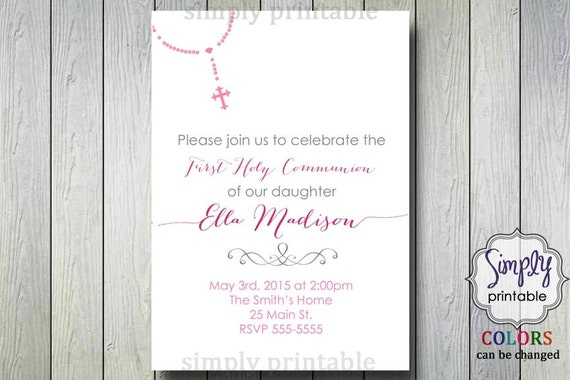 Communion/Baptism Invite