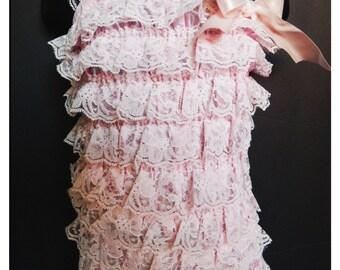 Destashing Sale!!! Light Pink Lace Romper - 2-3 Years