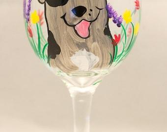 Catahoula Lepoard dog  wine glasses CUSTOM set of 2