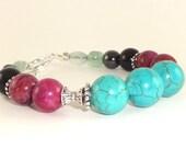 SALE Pain Relief Bracelet, Sugilite Bracelet, Yoga Bracelet, Healing Bracelet, Purple and Black Bracelet, LOVE Bracelet, Beaded Bracelet