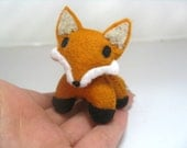 Fox Plushie Totem--miniature kawaii plush spotted cat stuffed animal