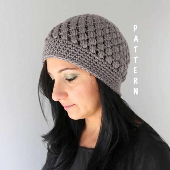 Crochet Hat Pattern With Puff Stitch : Crochet Pattern for Puff Stitch Beanie Crochet Popcorn Style