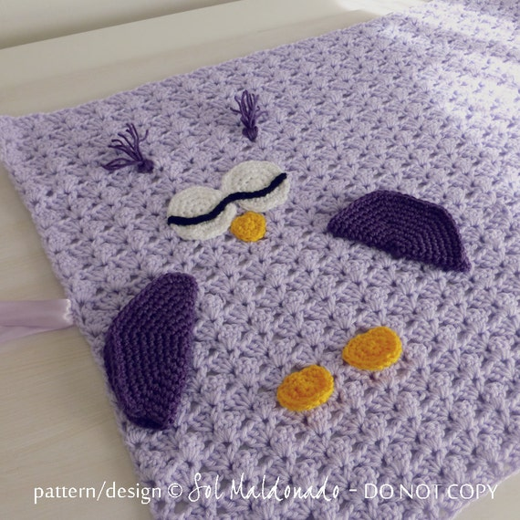 Crochet Pattern Owl Baby : Crochet Pattern Baby Blanket Owl amigurumi toy and security