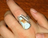Royston Turquoise, Nevada, Sterling Silver Ring, Size 8 3/4