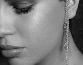 Silver-tone Chain ear wrap - No piercings needed