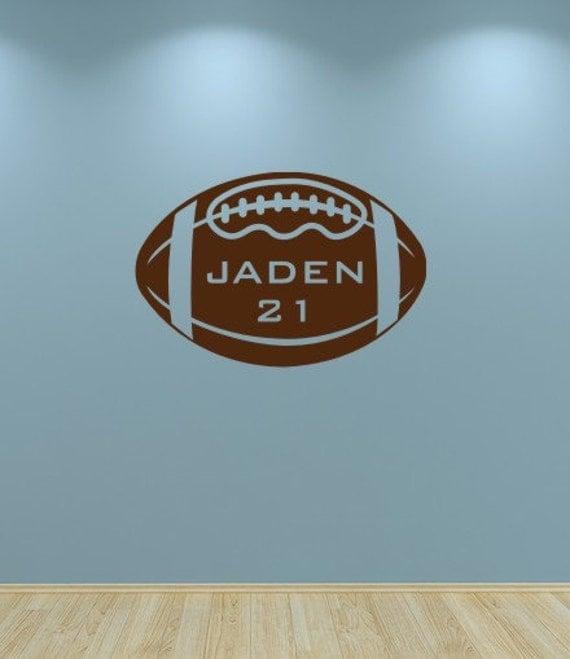 Football Decal, Kids Wall Vinyl Football Sports Decal Personalized Boys Wall Decor