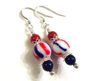 Red White & Blue Earrings