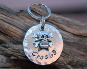 Pet ID Tag / Dog Tag / Personalized Tag /  Dog ID Tag / Skull