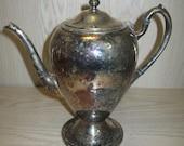 Silver Plate Gotham Silver Co Tea Pot #515 Silver On Copper Early 1900's