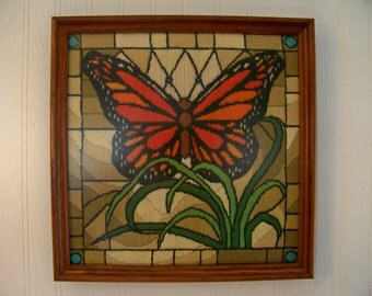 Framed Embroidery Butterfly