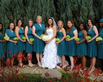 Peacock Teal Infinity Bridesmaid Dress