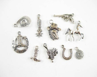 Cowboy Charm Collection in Silver Tone - C2120