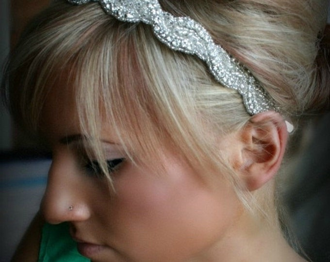 Bridal Rhinestone Headbands, AMARA, bridal hair piece, wedding headband, wedding headpiece, bridal accessories, wedding, bridal