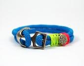 anchor bracelet,nautical bracelet,sailing jewelry,paracord bracelet,neon bracelet,sailrope bracelet,steering wheel,turquoise jewelry