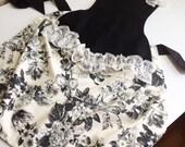 Black sexy apron, lace apron