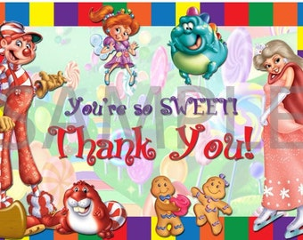 Candyland Thank You Card Digital File