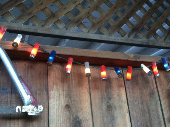Outdoor String Lights Etsy : Outdoor String Lighting Patriotic Outdoor Decor Red by scequine