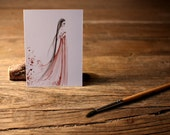 "Art ACEO Print ""Seeing is Beleiving"" Fine Art ACEO Print of my original Wine Staining Pencil Drawing Collectible Mini Artwork"