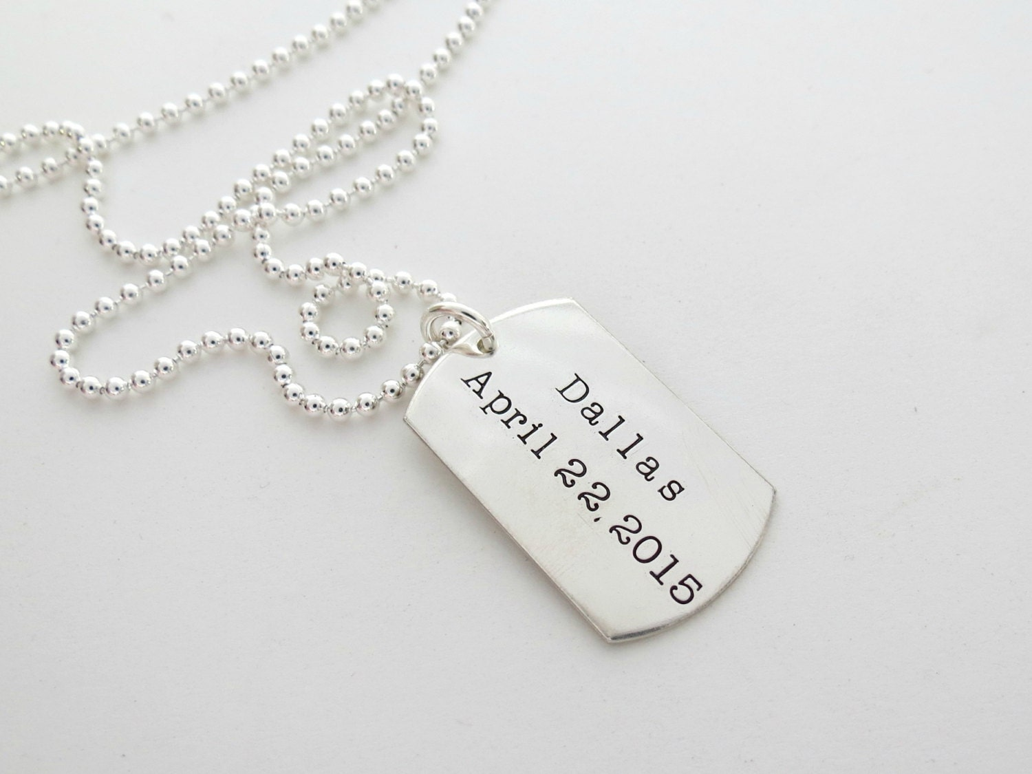 personalized mens necklace dog tag necklace personalized. Black Bedroom Furniture Sets. Home Design Ideas