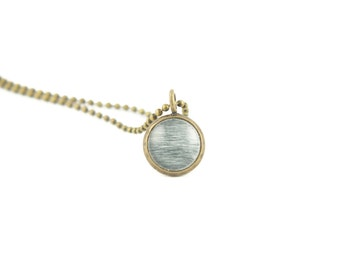 Layering Necklaces, Striped Necklace, Gift for Her, Unique Gifts, Photography Jewelry, Brass Pendant on a Ball Chain