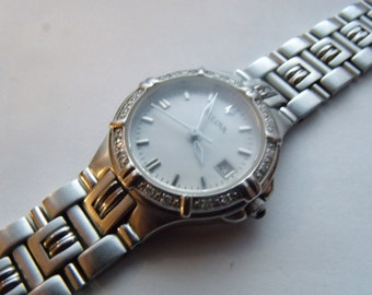 Ladies Diamond Watch Bulova Stainless Steel