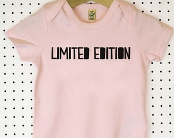 Limited Edition Organic Cotton Baby Grow or Jumpsuit