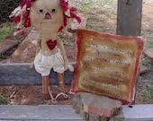 Primitive My Old Ragg Doll  Mailed Paper Pattern