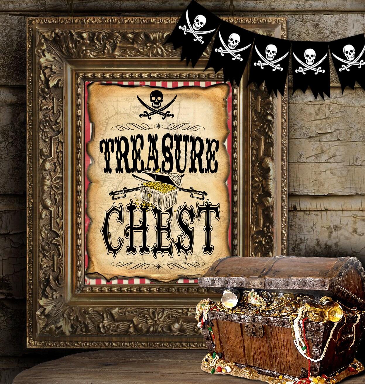 Treasure Chest Decorations Treasure Chest Etsy