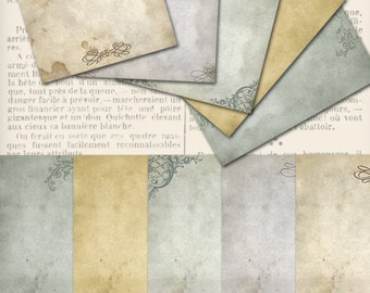 Shabby Chic Stationery Paper 8.5 x 11 inch printable paper craft art hobby scrapbooking instant download digital collage sheet - VDPASC0984