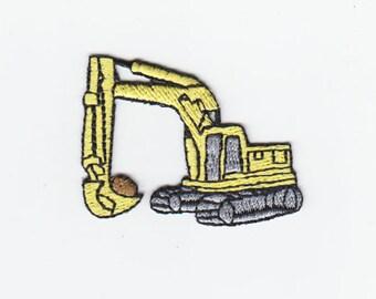 Embroidered  Steam Shovel Applique for Kids Children