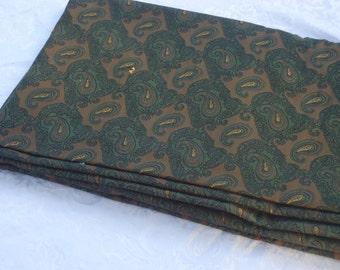 Dark Paisley Vintage Fabric Length