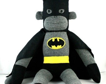 Batman the Sock Monkey - MADE TO ORDER
