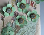 Vintage Mint Green  Combination Flowery Finding