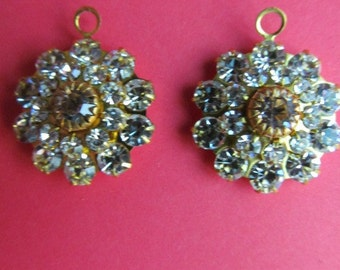 Vintage Hooped Crystal Swarovski Three Layer  Drop