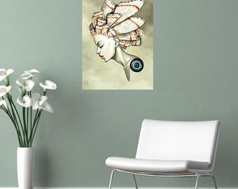 Digital Fantasy Art Wall Sticker Decal – Moth by Indre Bankauskaite