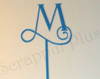 Single Acrylic Monogram Table Letters - wedding centerpiece, cake topper, floral centerpiece, monogram centerpiece