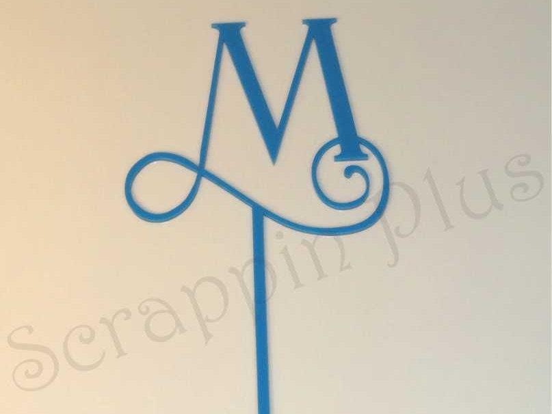 single acrylic monogram table letters wedding centerpiece With acrylic monogram letters