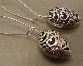 Paisley Pewter Earrings