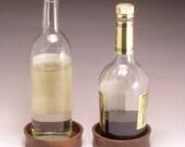 Pair of Wine Bottle Coasters in Walnut