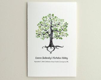 The Summer Solstice Tree - Wedding Ceremony Program / Order of Service - DIY Printable PDF Template - folded card - Green